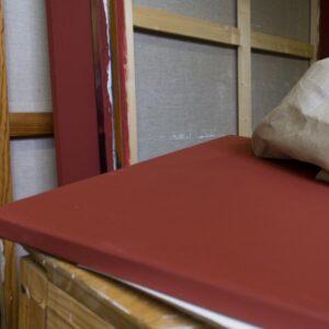 Toile au mètre rouge